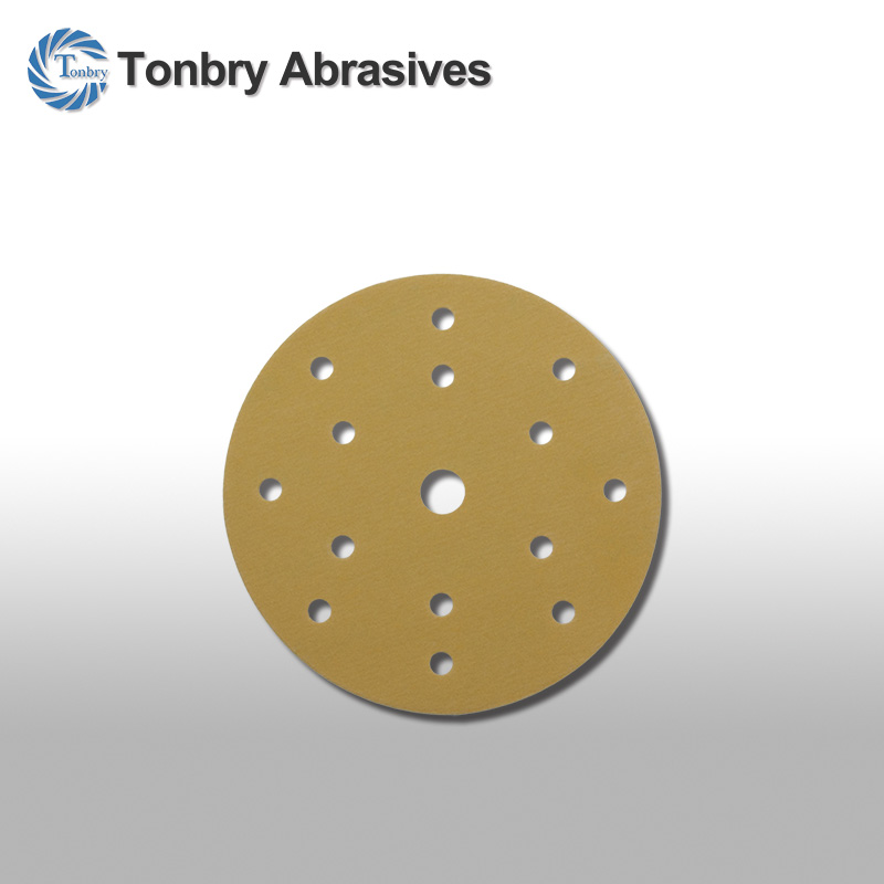 round gold abrasive sand paper disc for automotive refinishing