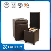 Wholesale Price Quality Assured Oem Design Living Room Auchan Storage Ottoman With Wooden Legs