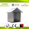 gable roof metal dog house with colorful