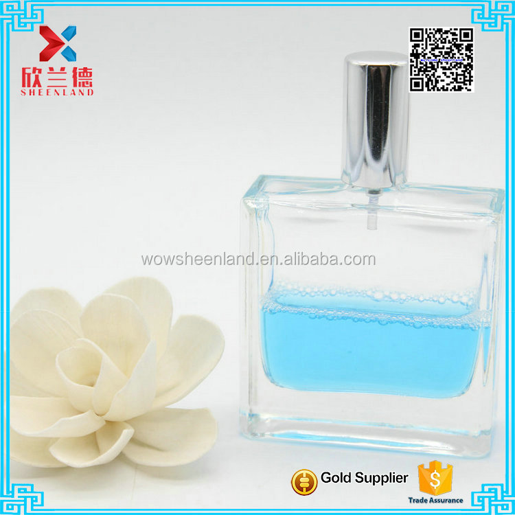 wholesale glass rectangle vintage perfume bottle 50ml