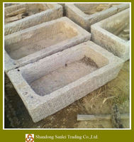 new collected stone old trough, garden planter, old animal feeder