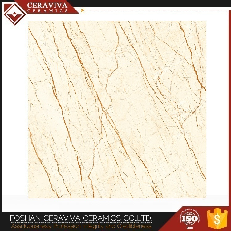 Sofitel Gold polished glazed marble tile for wall floor