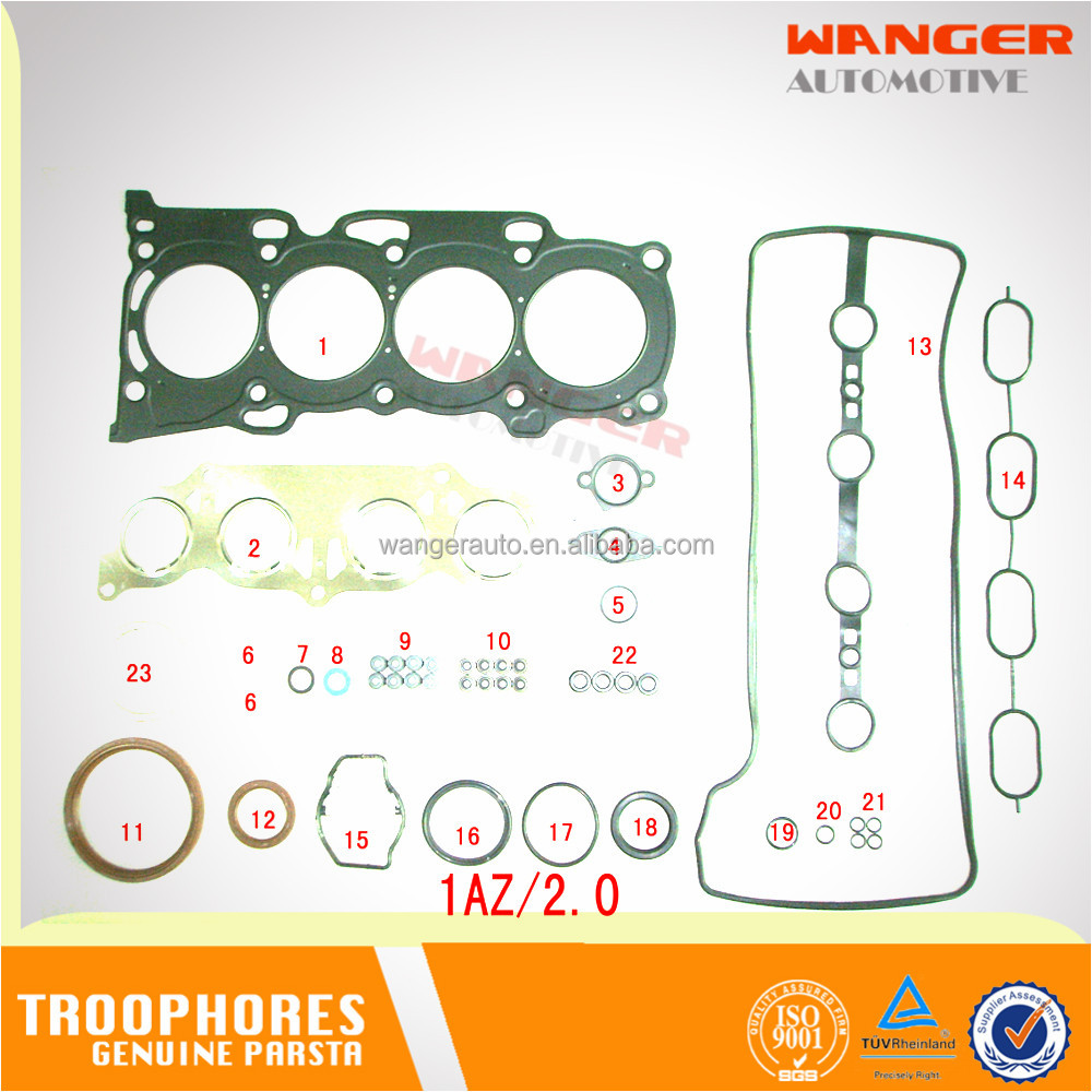 1AZFE Engine Overhaul Gasket Kit Full gasket set OEM: 04111-28120 for TOYOTA PICNIC/AVENSIS ACM20