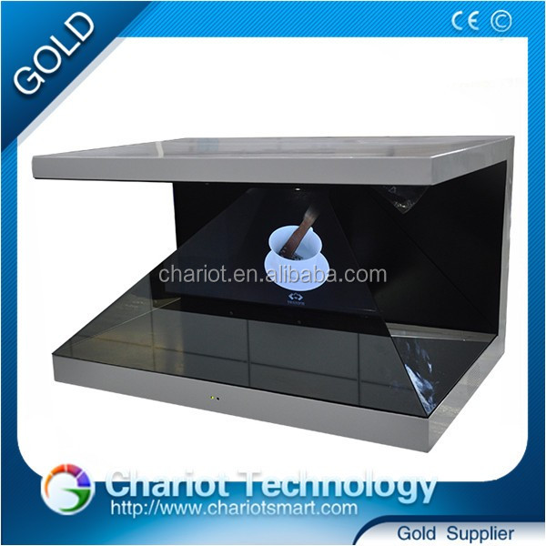 China wholesale Holobox display for exhibition, 3d holographic pyramid, advertising hologram display showcase for jewelry.