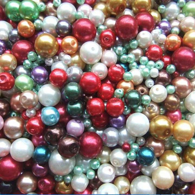 Loose Pearl Beads,Wending Dress Glass Pearls