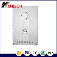 One big button Telephone Stainless steel auto call elevator phone KNZD-09 Emergency Call System IP Industrial phone