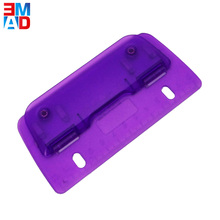 Promotional mini size 3 sheets plastic 2 hole portable fancy flat paper punch
