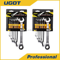 7 Piece Combination Ratcheting Wrench Spanner Set