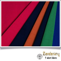 bangladesh garments stocklot cotton combed fabric for t-shirt polyester tricot warp knitted ...