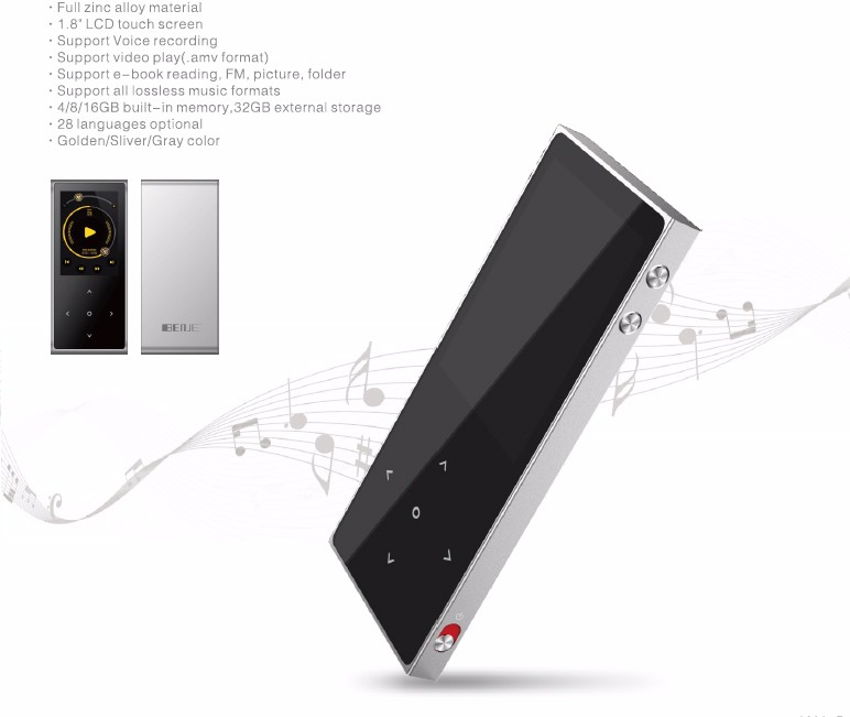 Hot sale professionalmp3 player with video download in mp4