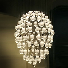 acrylic lamps chandelier crystal pendants hotel lobby ceiling lights