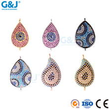GJ brand good quality crystal bead gem synthetic diamond semi precious stone pendant