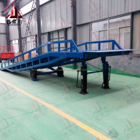 10 ton forklift loading hydraulic container dock ramp /mobile hydraulic container dock loading ramp for forklift