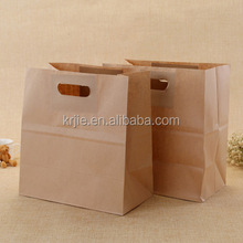 Alibaba Gold Supplier Recycle Paper Clear Window Laminating Toast Kraft Paper Bag for Food