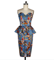 New design fashion prited woman dress/woman ware