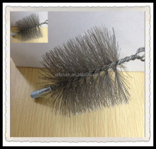Round Chimney Flue Wire Brush Steel Chimney Sweep Brushes for Cleaning Flues