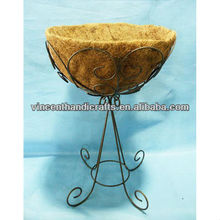 Party wire metal stand support vintage metal flower pot with COCO liner