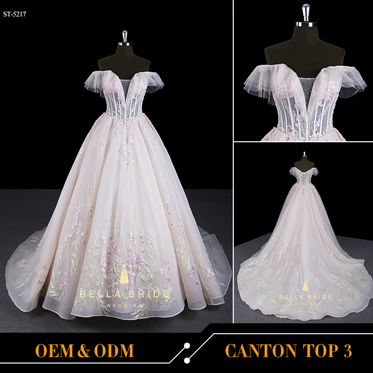 Guangzhou wedding dress whosale bridal gowns dress real sample shooting pictures of beautiful wedding gowns