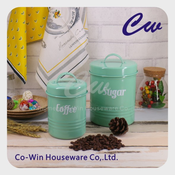 Mini Metal Storage Box ,Galvanized Steel Airtight Coffee Tea Sugar Canister