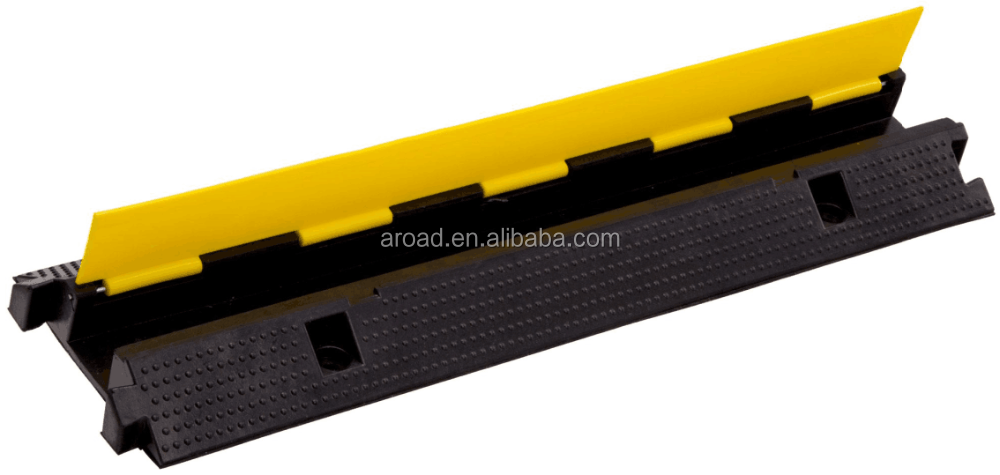 Aroad Factory Top Sale 1 Channel Rubber Cable Protector Floor ,Cable ramp