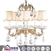 wholesale large crystal brass copper luminaire antique chandelier crystal with hand blown glass