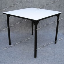 Special shape white dining table China Foshan Furniture YC-T08-01