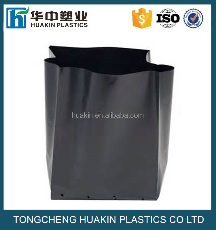 strong black plastic grow bags planting nursery trees bags