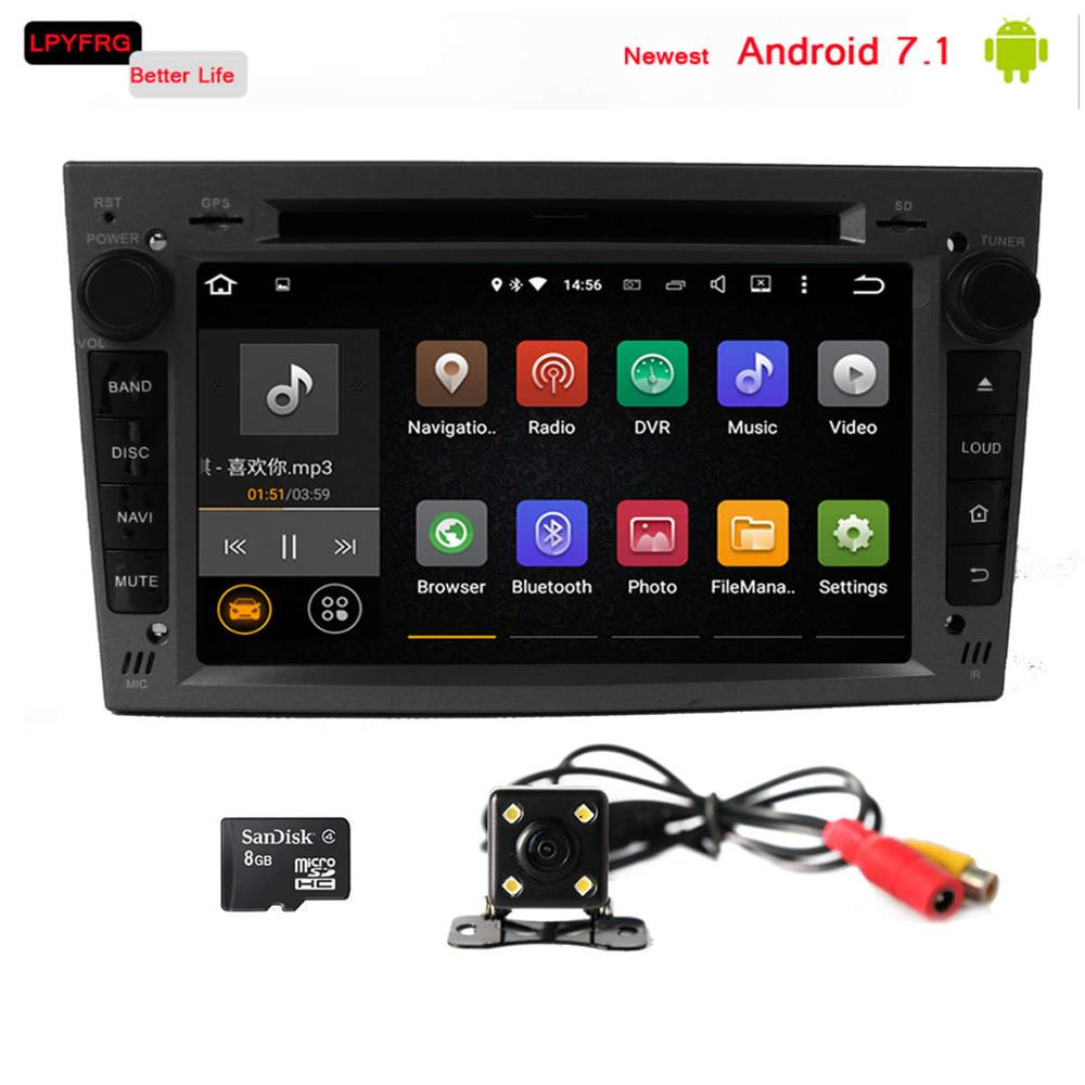 opel vectra c astra h car radio dvd gps navigation system android 7.1 2 din built-in 3/4G car dvd for opel