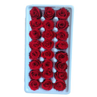 Mini preserved rose 2-3cm real rose flower make gift box