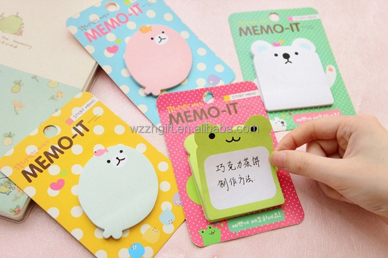Cute Animal Memo It Sticker Paste Bookmark Index Tab Pads Flags Sticky Notes
