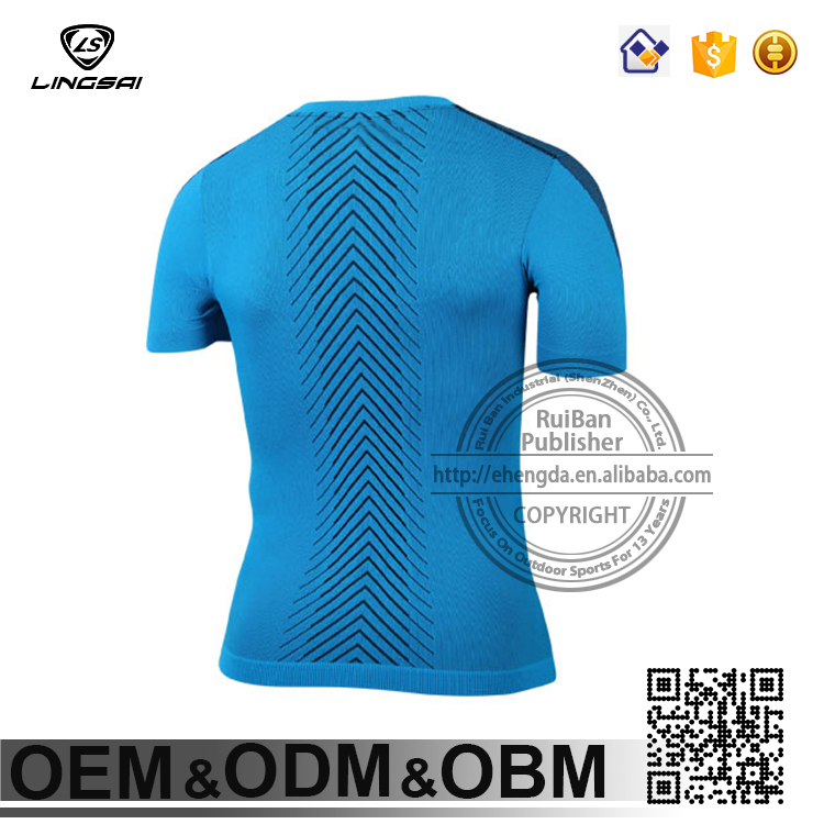 Amazing 3d sublimation printing short sleeves Training Wear for men