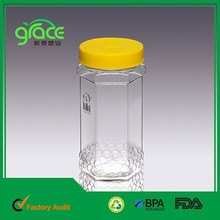 Chinese Supplier Transparent Honey Plastic Hexagon Container