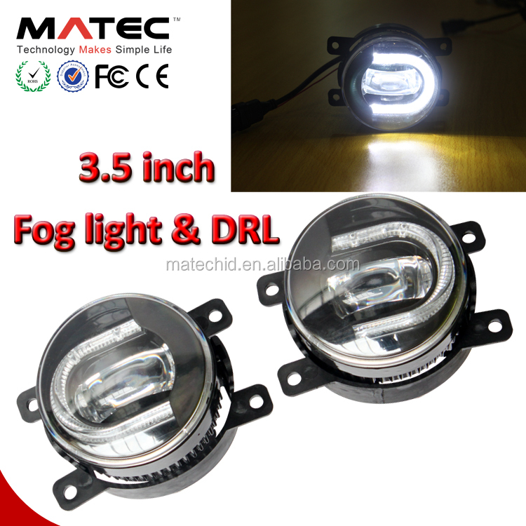 Universal 12V white Fog lamp with DRL daytime running light toyota corolla fog light