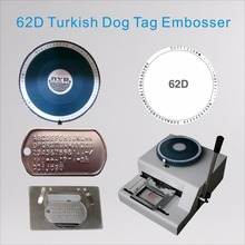 62D Turkish Military Metal Dog Tag Embossing Machine New Manual