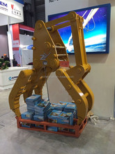 Long durable log grabs, timber grapples, stone grapple for excavator PC200