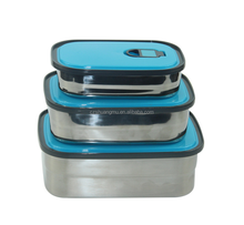 Wholesale Hot Sale Stainless Steel Leak Proof Bento Lunch Box Food Container Storage 3pcs Set 3 In 1