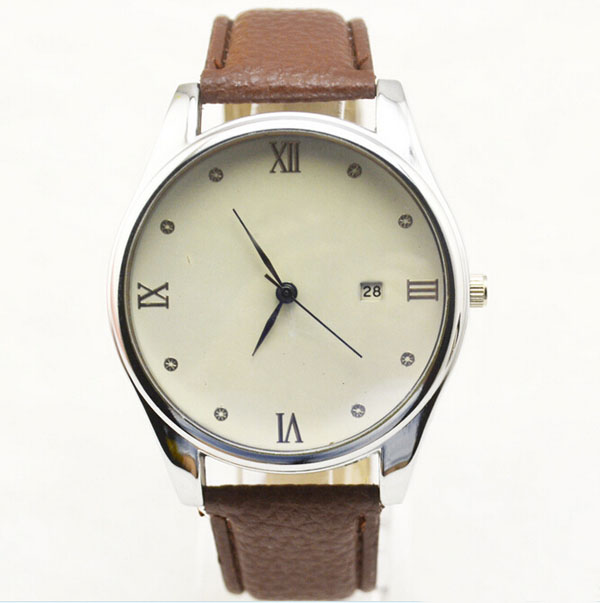 Wholesale PU leather band watches quartz fashion watch water resistant