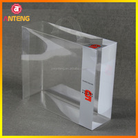 Plastic packing box with protective film