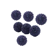 Multicolor crystal shamballa natural stone beads for jewelry making crystal bead