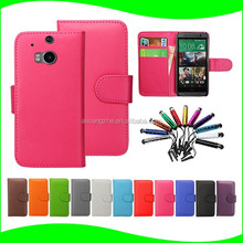 phone finger grip Mobile Phone For htc One m8 Leather Flip Wallet Case ,flip cover for htc one x9