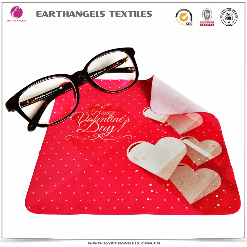 Custom Heat Transfer Printed Microfiber Lens/Glasses Cleaning Cloth