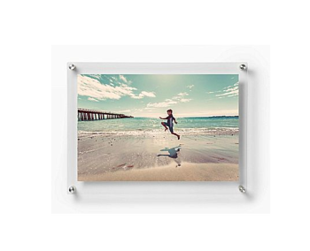 Acrylic wall mount picture display frame acrylic photo frame