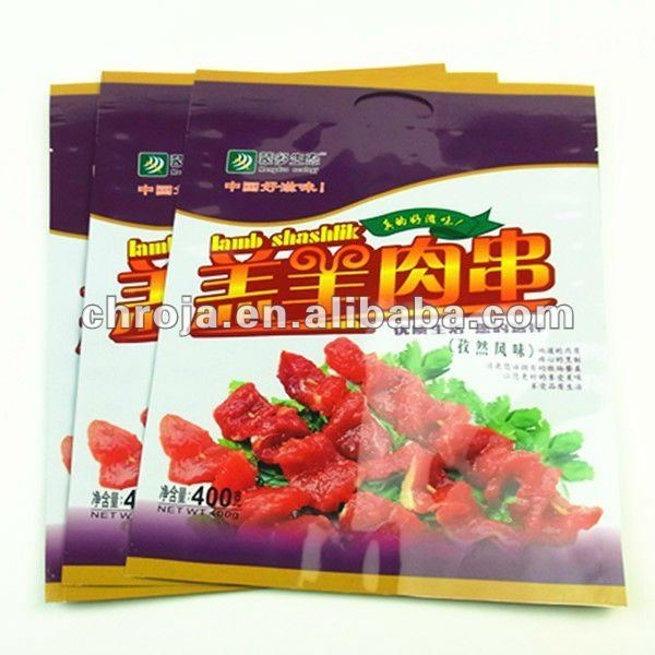 Vivid Printing 400g Packaging Bulk Plastic Bags For Beef Jerky