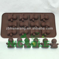 nicole B0024 silicone bread baking mold tray cheap silicone molds for animal cake and chocolate