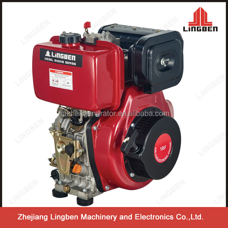 high quality the price of 10hp recoil/electric diesel engine 4 stroke LB186FA