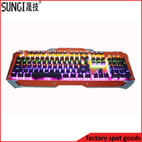 Colorful LED Lighting usb wired mechanical gaming keyboard