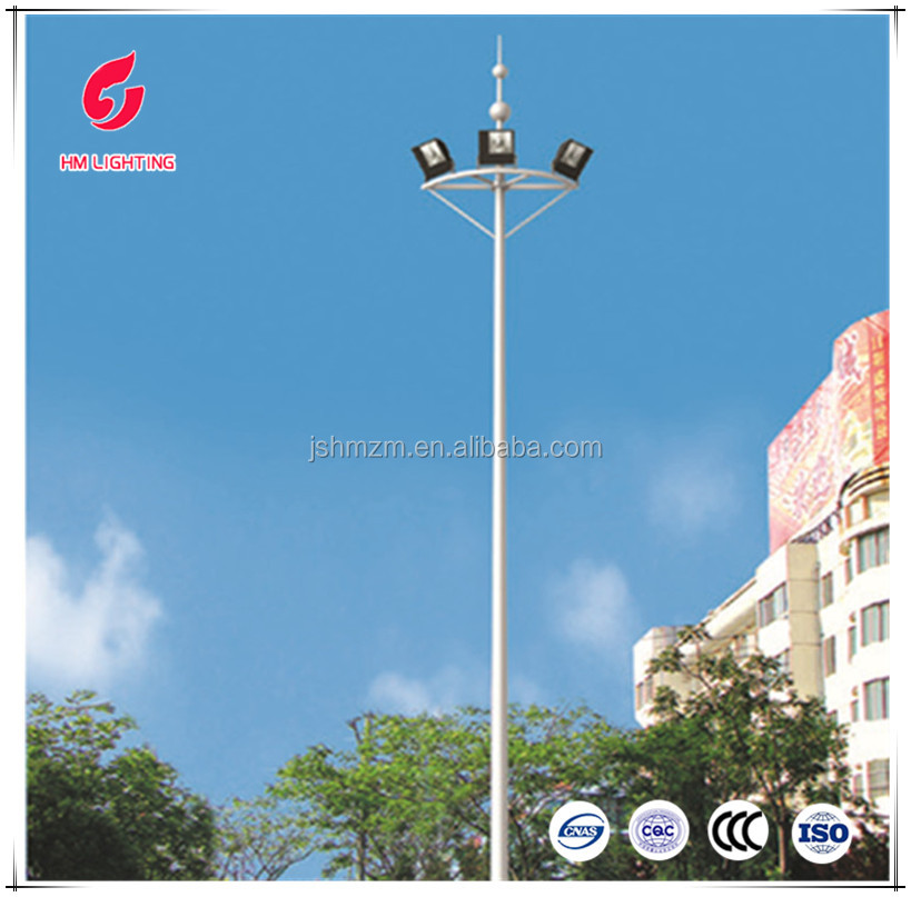 30 meter high mast galvanized pole flood light poles