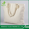 promotional shopping plain organic tote cotton bag