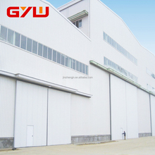 Top Guided Bottom Rolling Automatic Steel Sliding Industry Doors