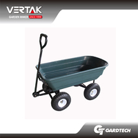 Supermarket DIY supplier cheap garden tractor dump cart